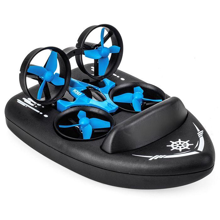 3-in-1 JJRC H36F RC Drone Hovercraft Land Modus Multi-funktion Spielzeug Headless Modus Geschwindigkeit Schalt 4-kanäle Fernbedienung Drone