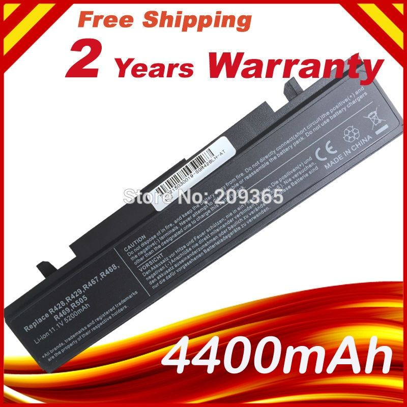 <font><b>Laptop</b></font> Battery for SAMSUNG R580 R540 R530 RV511 R520 R428 R522 NP350V5C R425 R460 AA-PB9NC6B AA-PB9NC6W AA-PB9NS6B