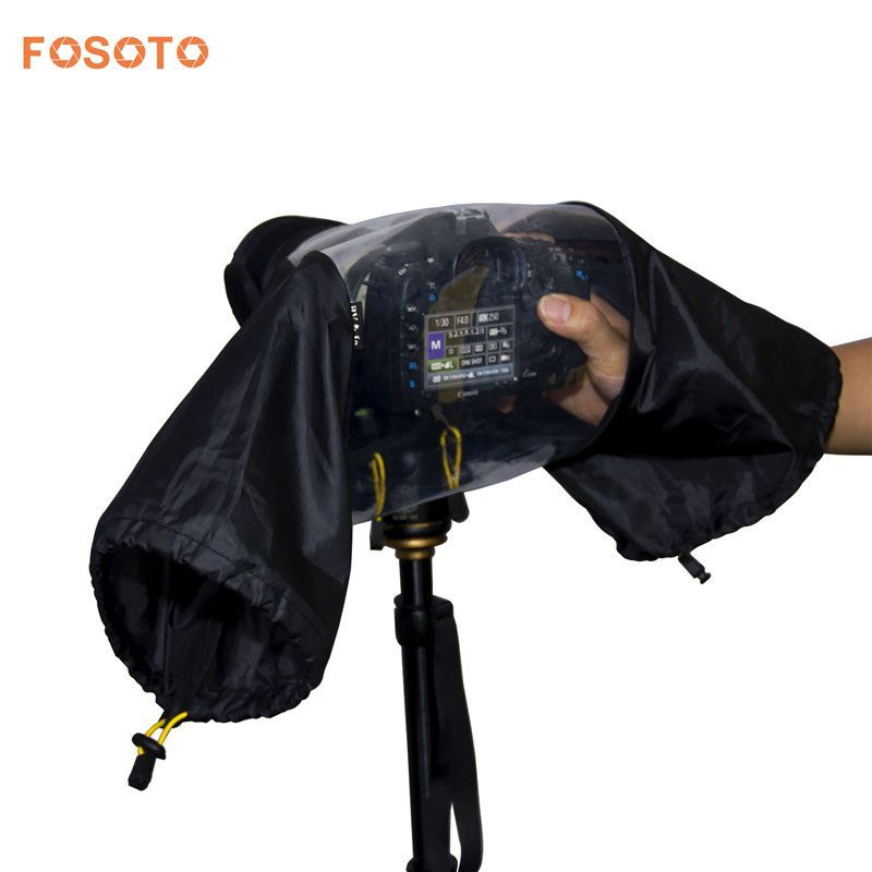 fosoto Photo Professional Digital SLR Camera Cover Waterproof Rainproof Rain Soft bag for Canon Nikon Pendax Sony DSLR Cameras