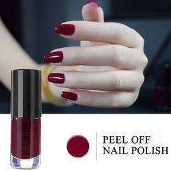 Professionnel 2017 Nouveau Vernis À Ongles Art Décoration Étanche 6 ml Pigment Métal Noir Rouge Nude Peel Off Nails Polonais Couleurs