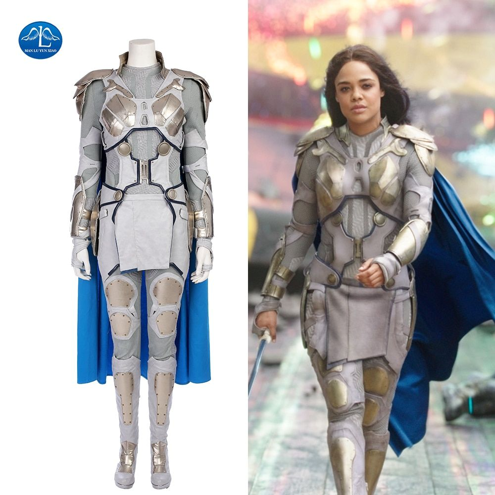 MANLUYUNXIAO Thor Ragnarok Cosplay Costume Valkyrie Costume Halloween Costumes For Women Custom Made Leather Suit