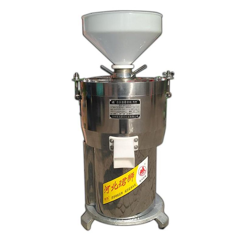 220V Commercial Slag Separating 40kg/h Electric Soybean Milk Tofu Maker Machine Fiberizer Rice Paste Machine Stainless Steel