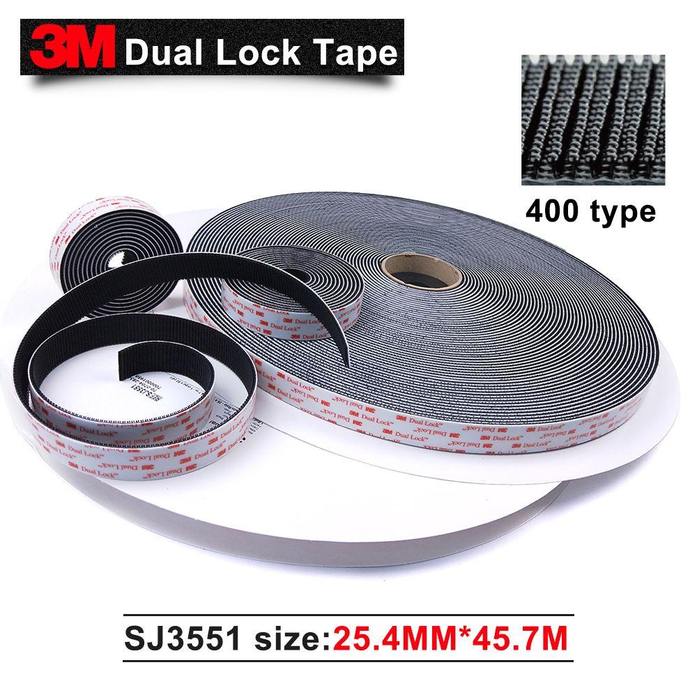 100% Original 3M SJ3551 400 Black Dual Lock self adhesive Tape 1