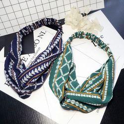 Style bohème Élastique Bandeaux Boho Croix Floral Turban Filles Fleur Bandeaux Rayé Headwrap Cheveux Accessoires Pour Femmes
