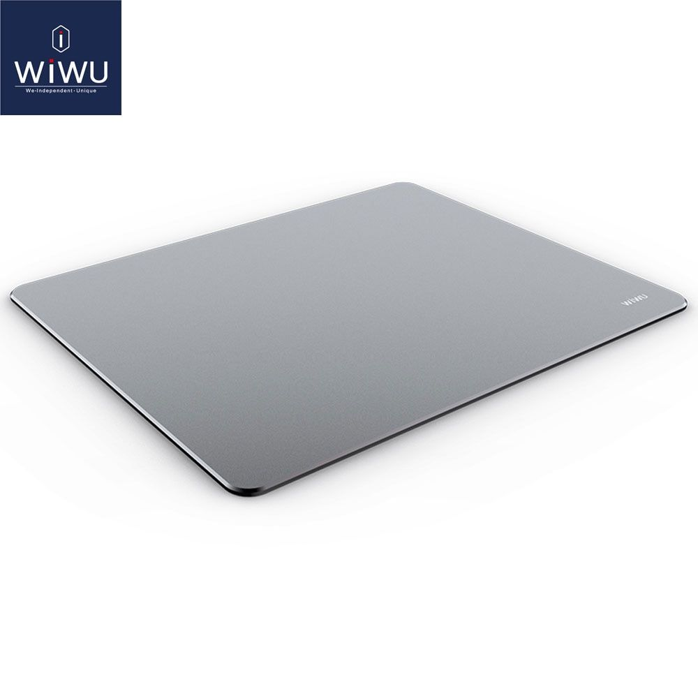 WIWU Aluminum Alloy Gaming Mouse Pad Waterproof Computer Pad large Ultra-thin Mat Environmental Silicone Non-Slip Mouse Pad