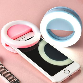 AINGSLIM Rechargeable Selfie Ring Light Portable Flash Led Enhancing Photography Ring Light for iPhone Smartphone Parties