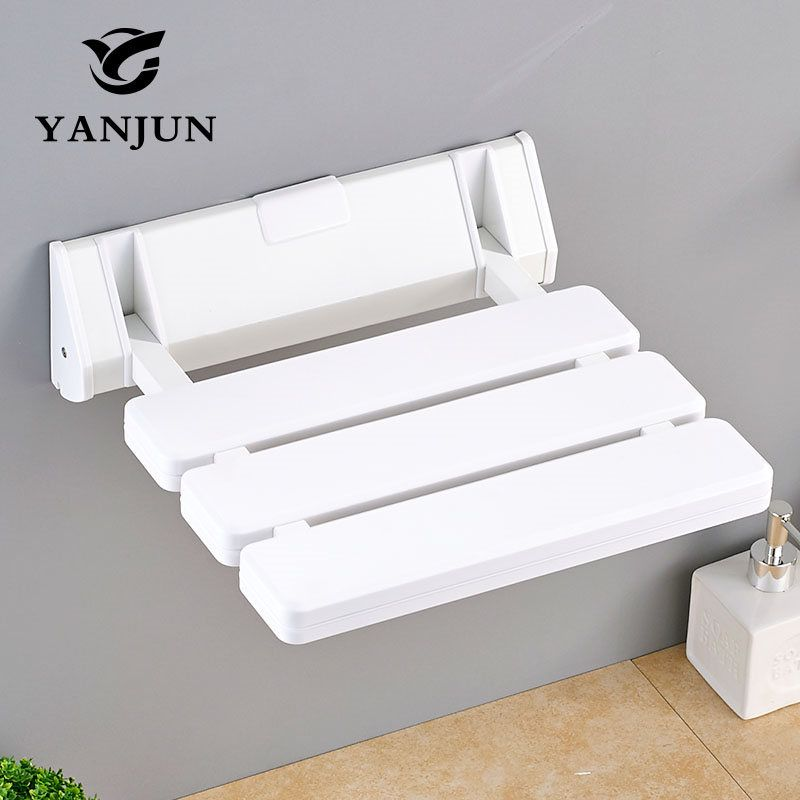 Shower Chair Shower Chairs For Elderly Shower Seat Wall Mounted Folding Stool Toilet Shower Chair Saving Space Bathroom YANJUN