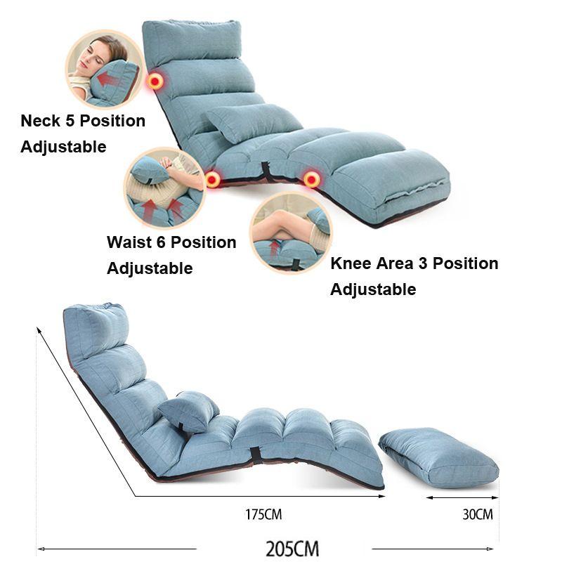 Y74 Faul Sitzsack Sofa Tatami Klapp Liege Stuhl Kreative Freizeit Sofa Klapp Einfach & Platzsparende & Einfach Tragen 205*56*20 cm