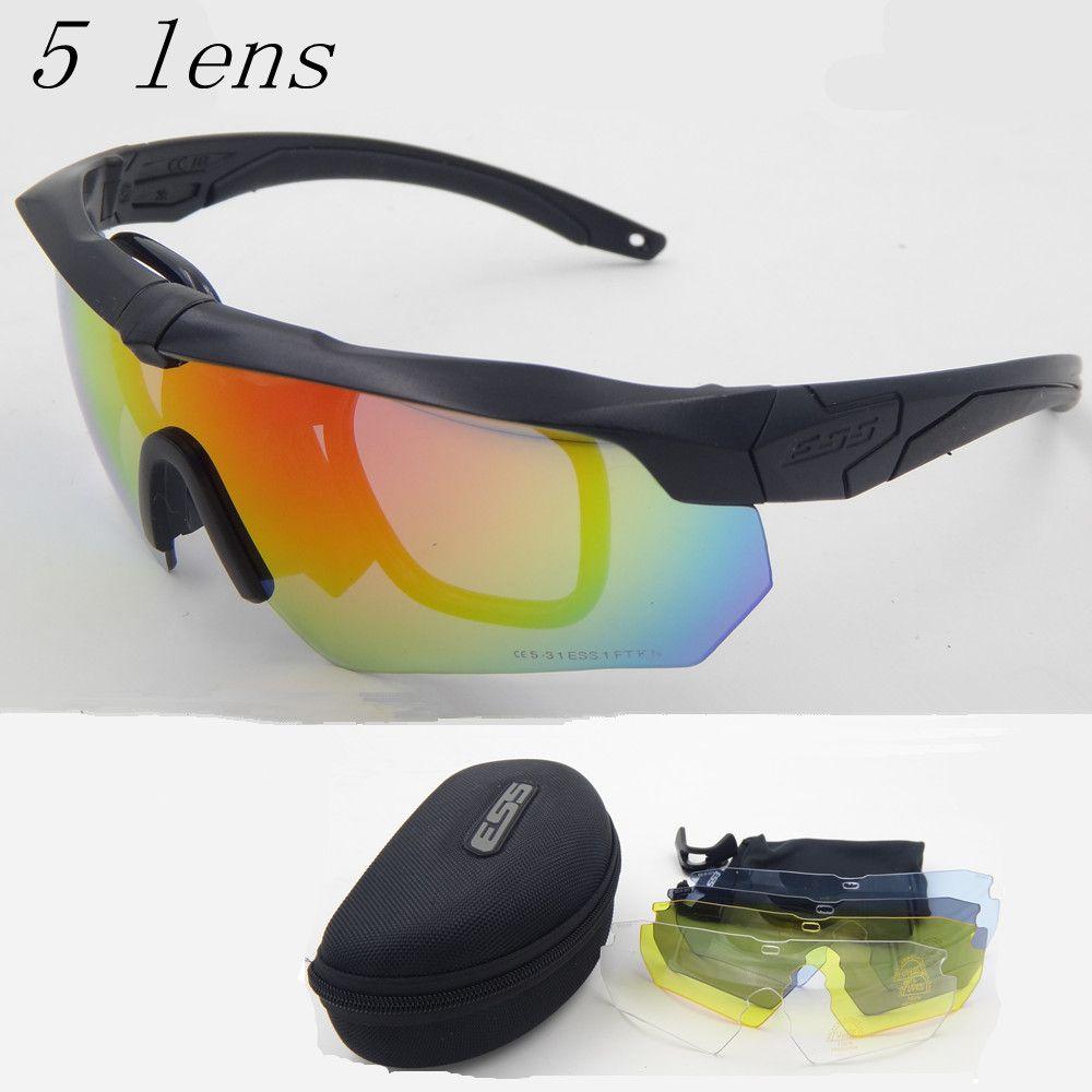Polarisierte sonnenbrille hohe qualität TR90 ARMBRUST militärschutzbrillen, 5 objektiv kugelsichere Armee taktische gläser, schießen brillen