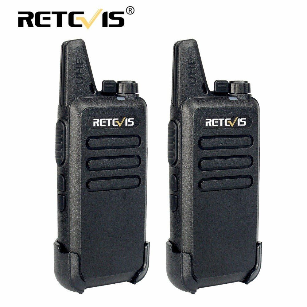 2 pcs Retevis RT22 Walkie Talkie Mini Transceiver UHF 2W VOX CTCSS/DCS USB Charge Handheld Two Way Radio Communicator Woki Toki