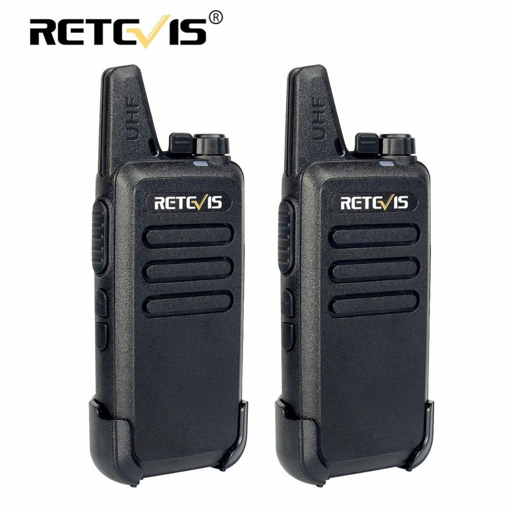 2 pcs Retevis RT22 Walkie Talkie Mini Transceiver UHF 2W VOX CTCSS/DCS USB Charge Handheld Two Way Radio Communicator Woki Toki