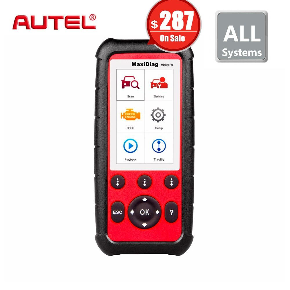 Autel MaxiDiag MD808 PRO Diagnostic Scanner tool for Engine, Transmission, SRS and ABS systems with EPB, Oil Reset, DPF, SAS,BMS