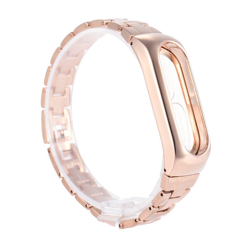 Bracelet en métal pour Xiaomi mi 2 bande bracelet ceinture pour Xiaomi miband 2 de remplacement de la courroie affichage oled noir or argent bracelets