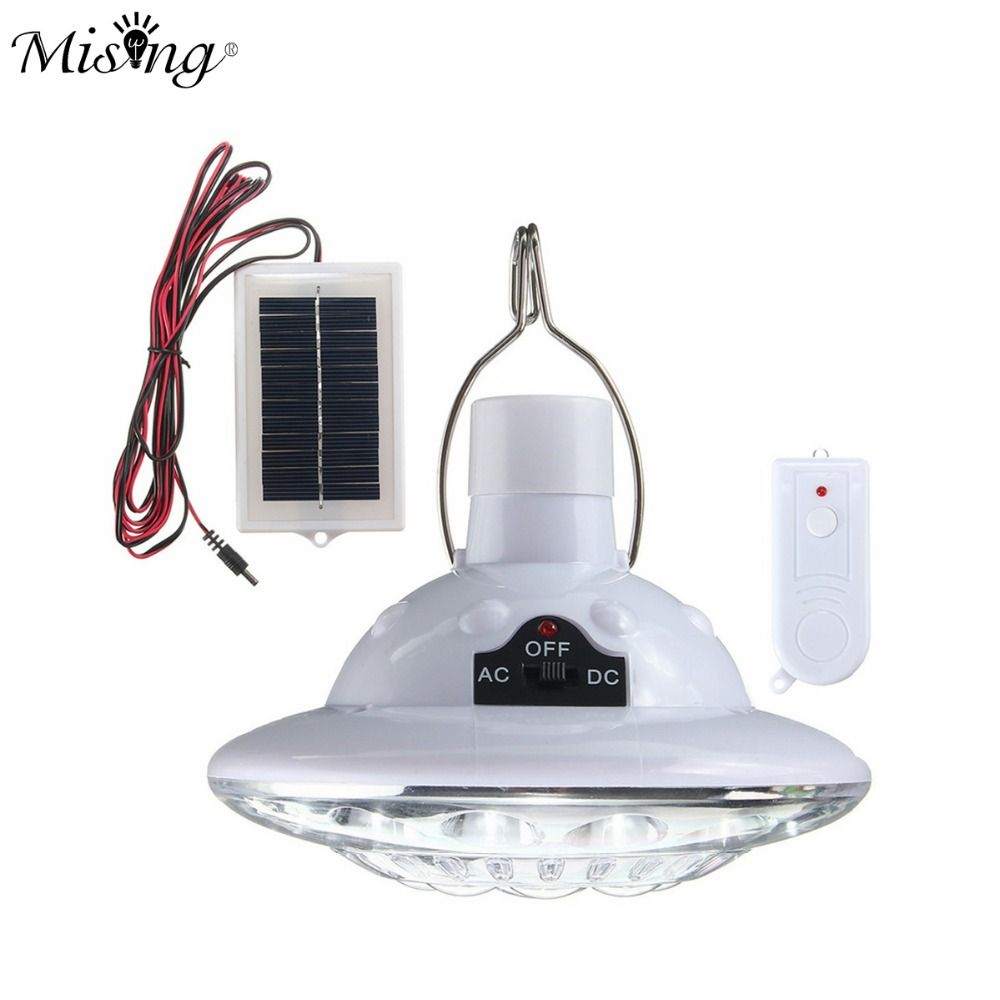 22 LED Solar Light Outdoor Garden Light Solar Powered Yard Hiking Tent Camping Hanging Lamp With Remote Control Pure White