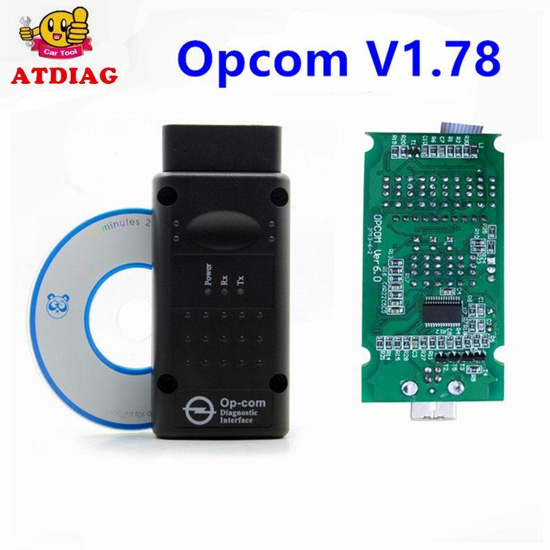 2017 High Quality OPCOM 1.65 1.70 V1.64 For Opel Diagnostic Scanner OP COM V1.59 CANBUS OP-COM OBD2 super scanner free shipping