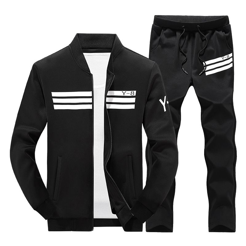 Mens Tracksuit Set Plus Size Track Suit Men Stand Collar Sportswear Hip Hop Casual Sets Fitness Clothing Plus Size 3D Print#D28