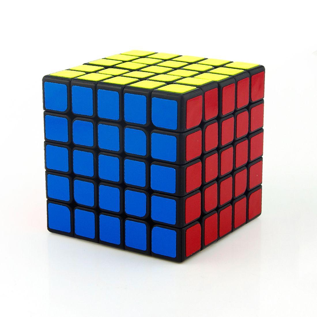 QianqianDora 5x5x5 cube neo Autocollant Vitesse Cube magico Puzzle Jouets zcube cube carré magique cube jouet