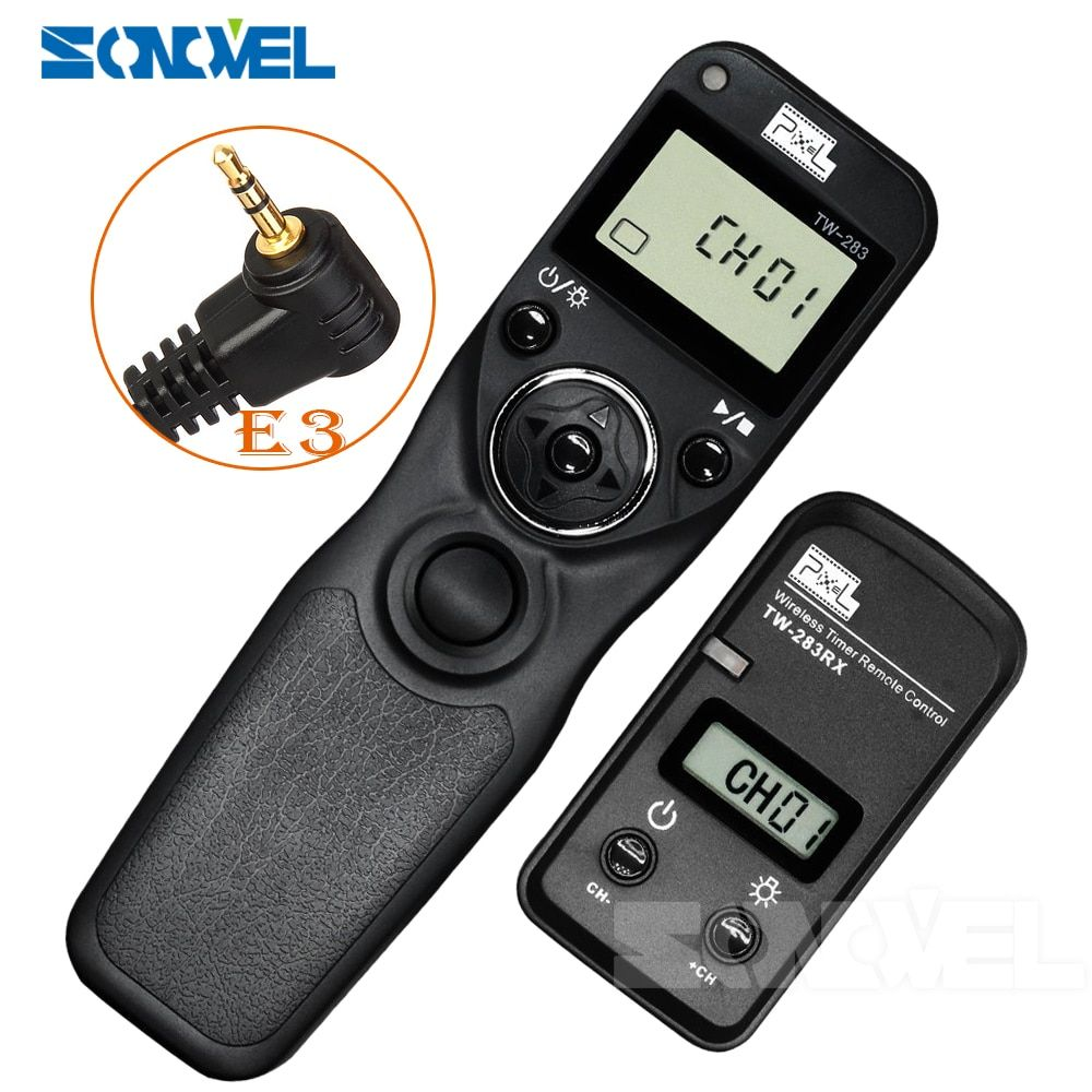 Pixel TW-283 E3 Wireless Timer Remote Control for Canon EOS 1300D 1200D 1100D 1000D 760D 750D 700D 650D 600D 550D 500D 450D 400D
