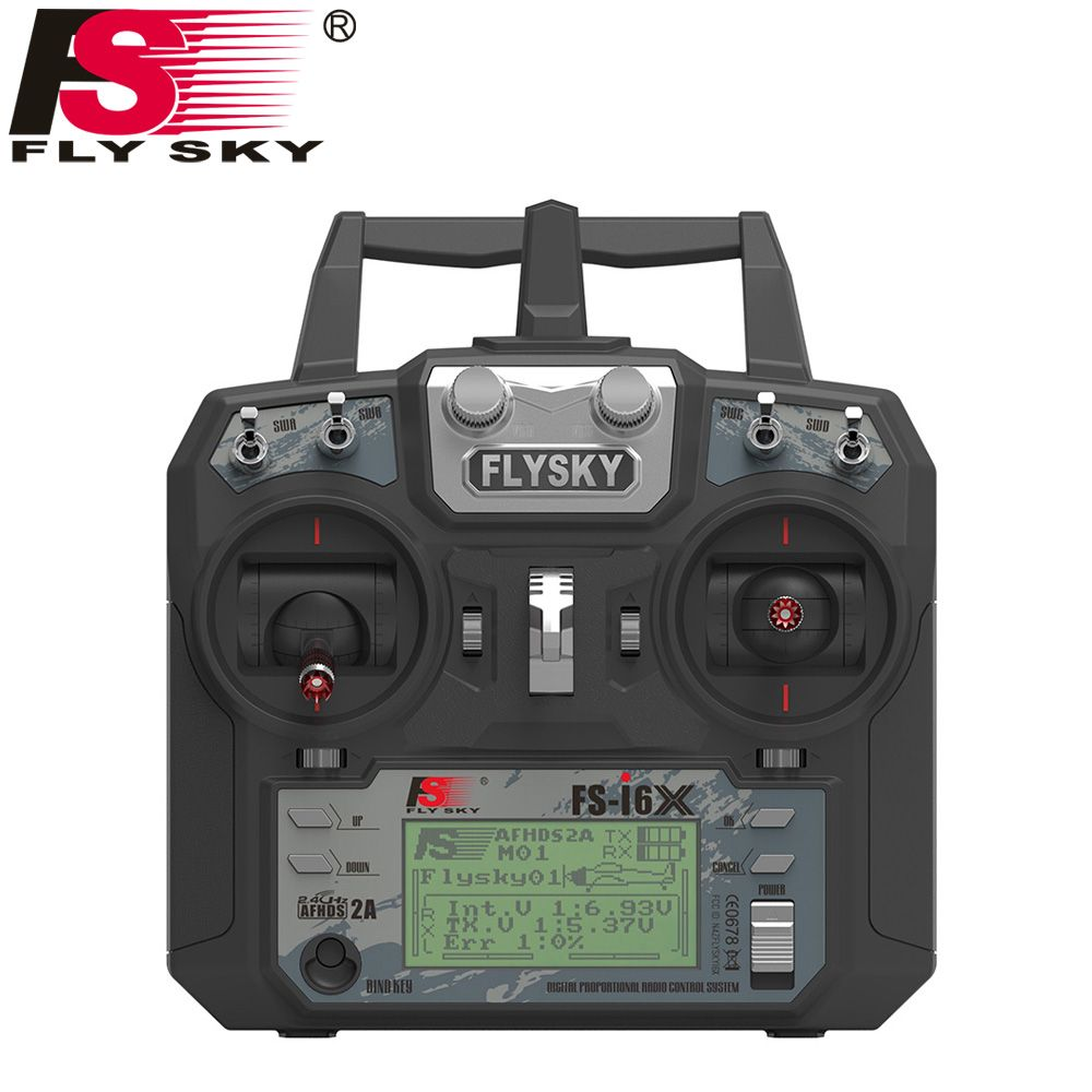 Flysky FS-i6X 10CH <font><b>2.4GHz</b></font> AFHDS 2A RC Transmitter With FS-iA6B FS-iA10B FS-X6B FS-A8S Receiver For Rc Airplane Drone Quadecopte
