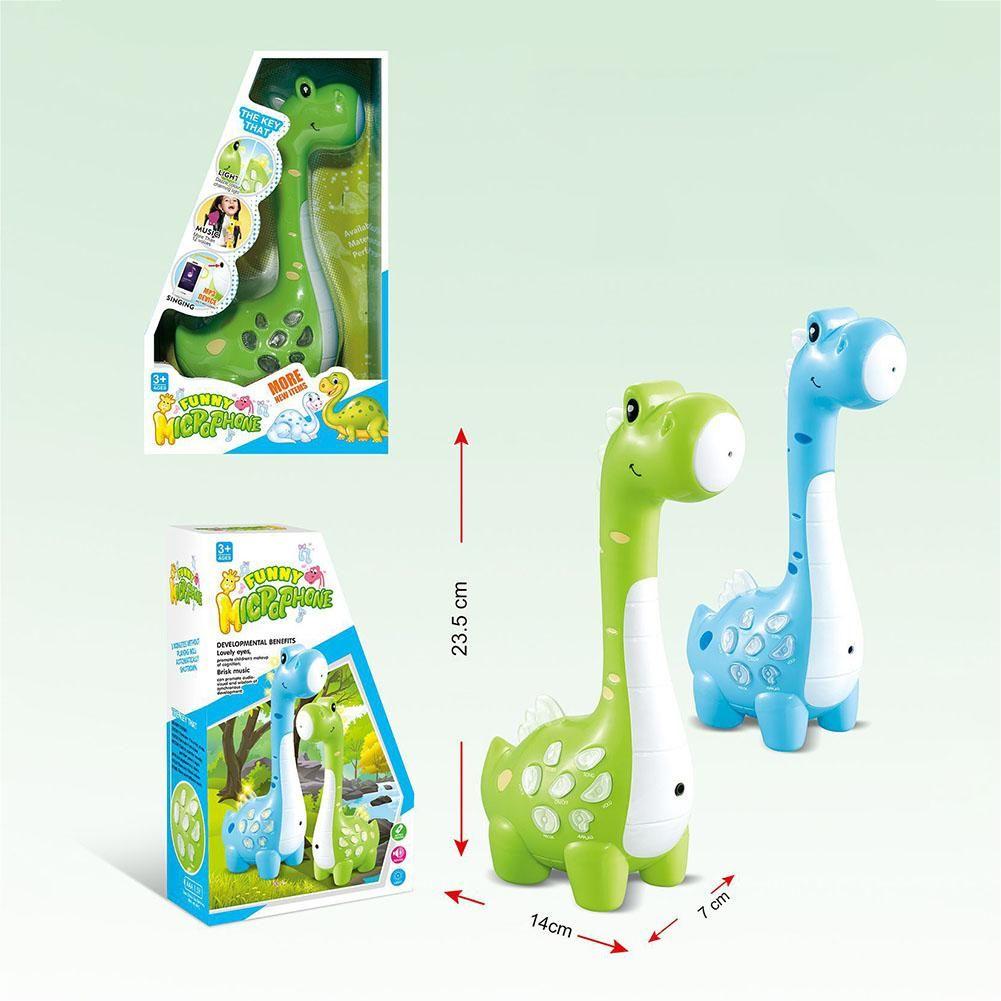 LeadingStar Kids Magic Cartoon Dinosaur Design Microphone Speaker with MP3 Recorder Amplification
