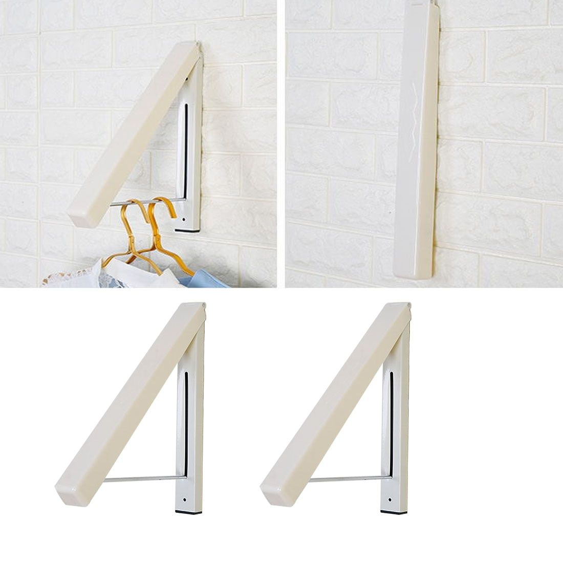 SDR Stainless Steel Wall Hanger Retractable Indoor Clothes Hanger Magic Foldable Drying Rack Waterproof Clothes Towel Rack