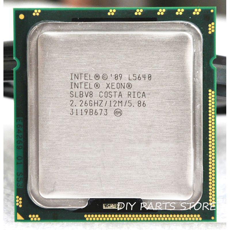 Intel XONE l5640 Процессор Intel l5640 процессор шести основных 2.26 мГц level2 12 м работы для lga 1366 montherboard
