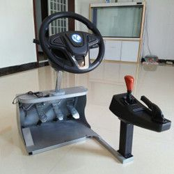 Computer game steering wheel /car driving simulator training aircraft /test drive school/automobile race video English software