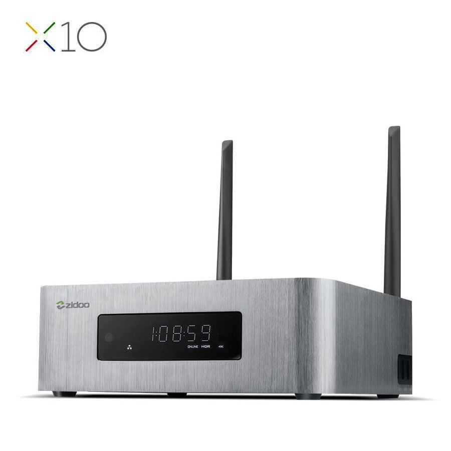 ZIDOO X10 Andoid 6.0 Smart TV Box Double Système Quad Core 2G/16G double Bande WIFI 1000 M LAN HDR USB 3.0 SATA 3.0 Media Player