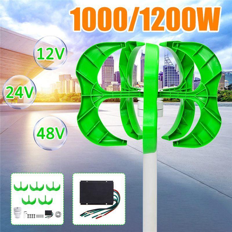 1200 W/1000 W Wind Generator 5 Klingen generator 12/24 V/48 V Laterne wind turbine vertikale Achse Für + Controller ветрогенератор