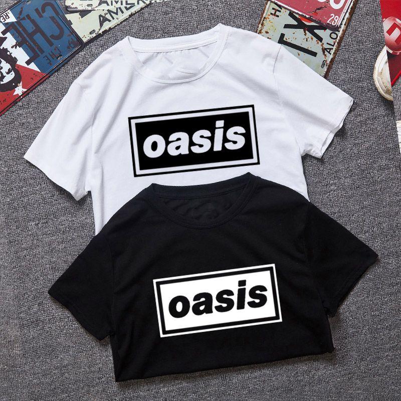 Fashion Oasis Band Print Tshirt New Men Short Sleeve O Neck Cotton Rock Men Tee Shirt Casual Men Top Tee FreeShipping