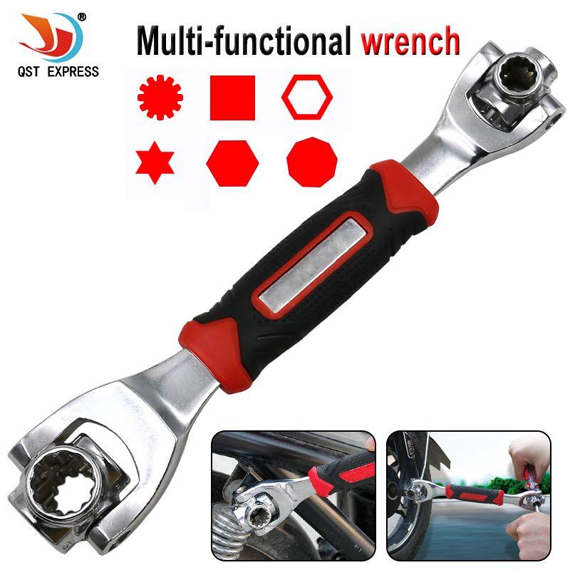 Clé 48 en 1 outils prise fonctionne avec des boulons cannelés Torx 360 degrés 6 points universel meubles voiture réparation 250mm