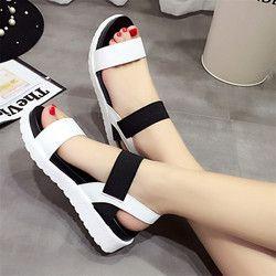 2018 nueva venta caliente sandalias mujeres verano Slip en zapatos Peep-toe zapatos sandalias romanas sandalias bohemias zapatos mujer