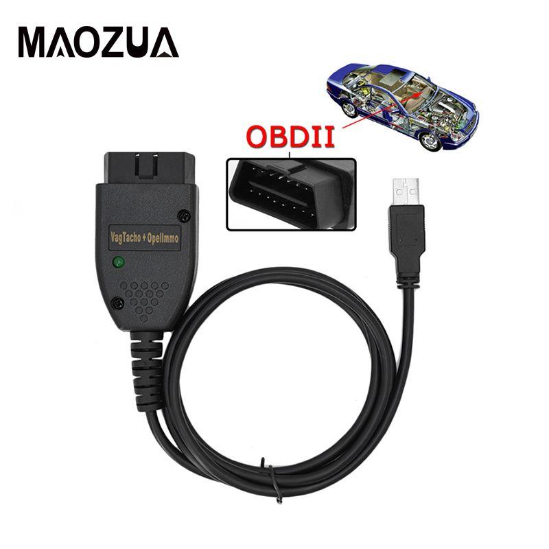 VAG TACHO 3,01 + Adapter für Opel Immo Reader Interface Auto Diagnose Werkzeug OBDII Code Scanner Kabel