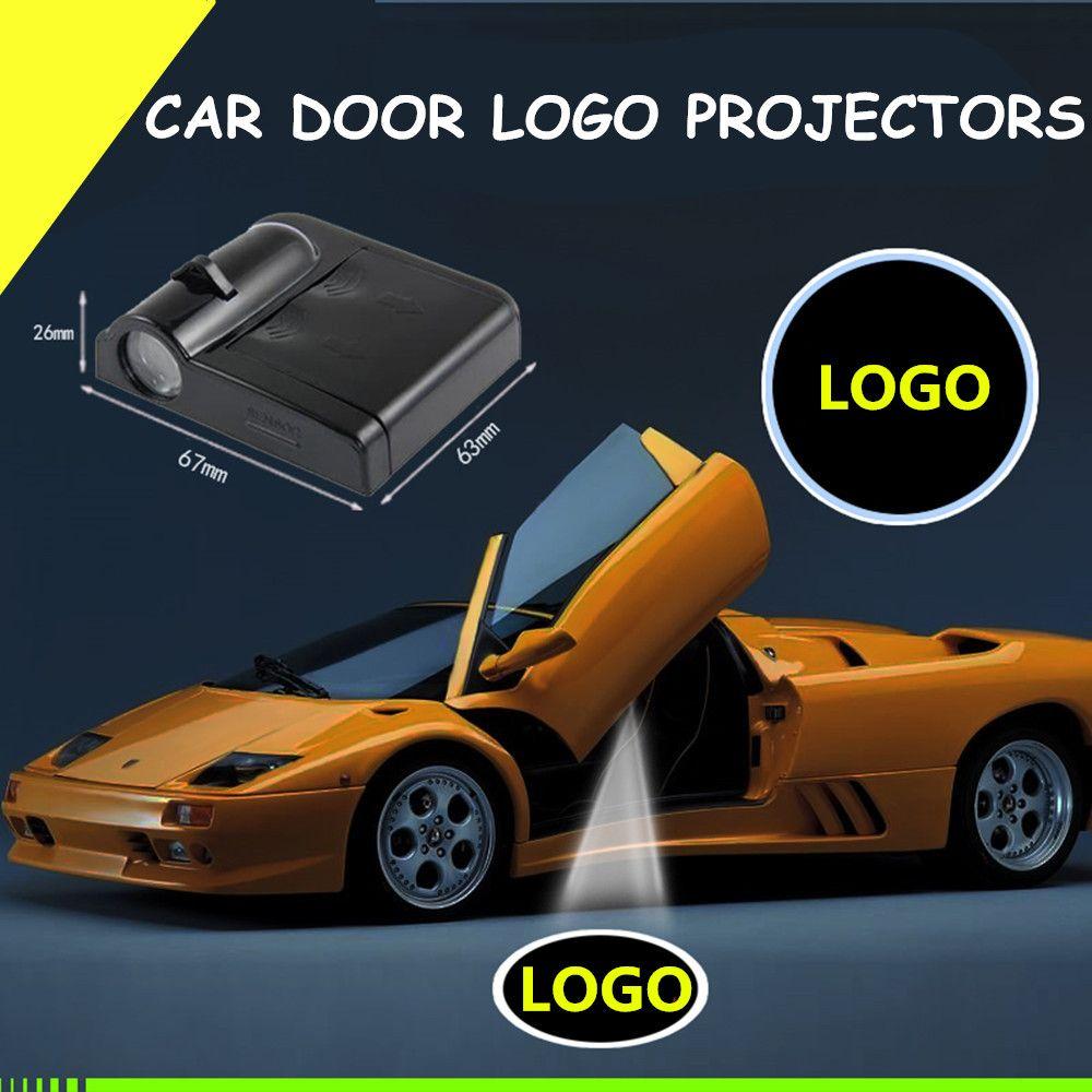 2 pièces Football voiture-style voiture intérieur lampe sans fil voiture porte Led bienvenue Laser projecteur Logo fantôme ombre lumière