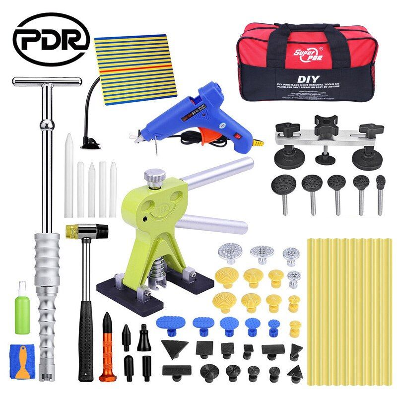 PDR Auto Repair Kit Automobile Repair Tool To Remove Dents Puller Kit Reflector Reverse Hammer Bridge Suction Cups For Dent