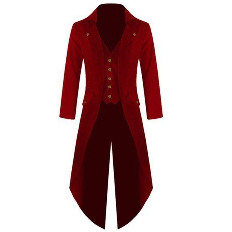 Men Coat Men 's Coats Solid Colorful Steam Punk Retro Tuxedo Men Men Dress 2017 Autumn And Winter New High Quality
