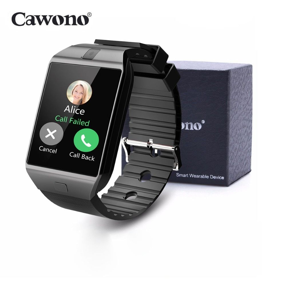 Cawono DZ09 montre intelligente Bluetooth Smartwatch Relogio TF carte SIM caméra pour iPhone Samsung HTC LG HUAWEI téléphone Android VS Q18 Y1