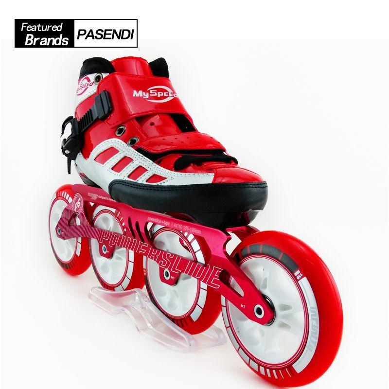 4 rad Rollschuhe Erwachsene Berufs Inline Speed Skates Hohe Qualität Mens Speed Skating Skates Patins