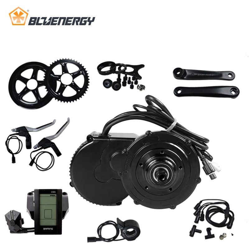 8fun bafang 36V 500W BBS02 BBS02B Bicycle Electric Motor Conversion Kits For Bicycle Electric Motor With Speed Sensor