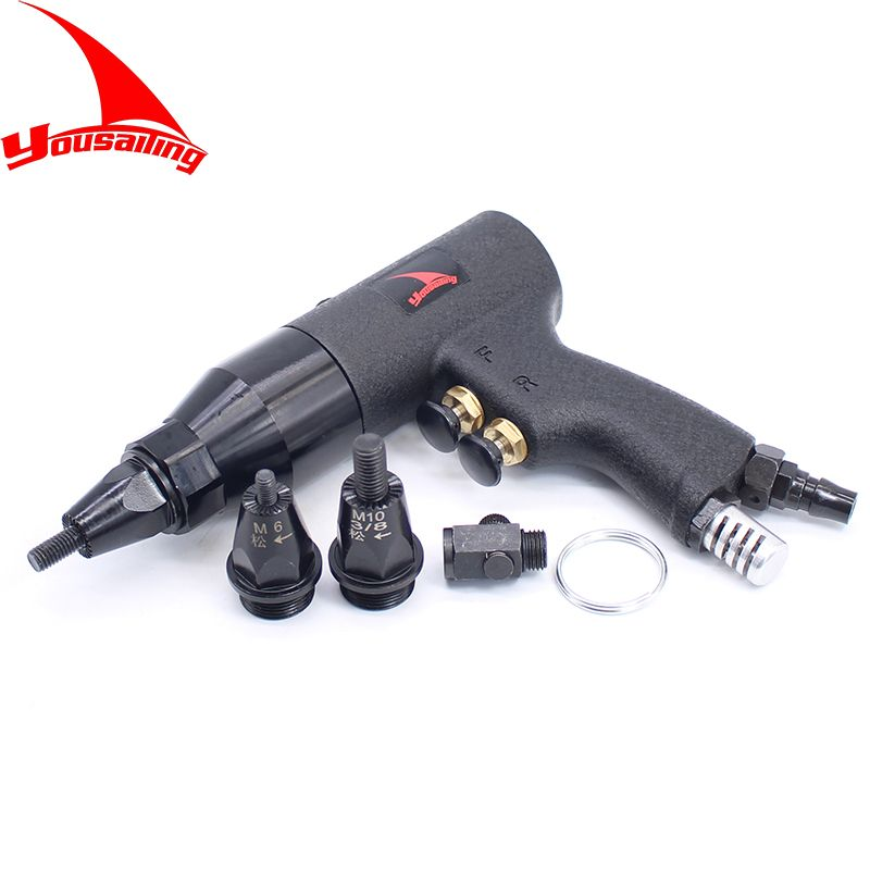 M4/M5/M6M8/M10/M12 Pneumatic Riveters Pneumatic Pull Setter Air Rivets Nut Gun Tool Only for Aluminum Rivet Nuts