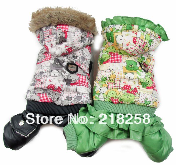 Nouveau manteau d'hiver pour chiens d'impression d'ours à venir livraison gratuite par la chine poste de nouveaux vêtements pour chien