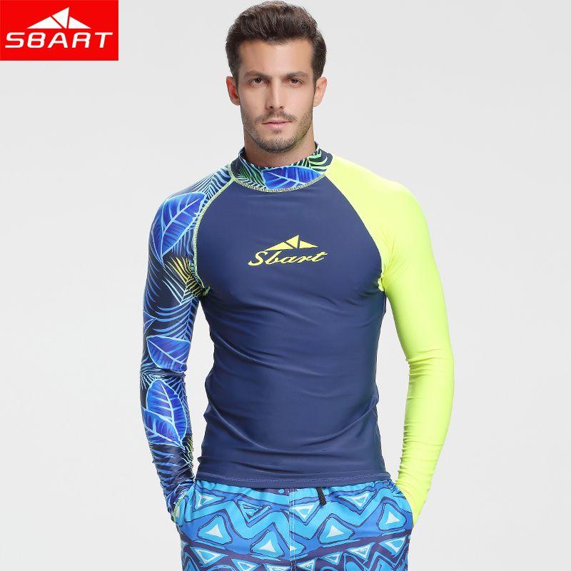 SBART Langarm Badehosen Männer Rashguard Surfen Tauchen Hemd Kleidung Uv-schutz Rash Guard Body Plus größe Badeanzug L