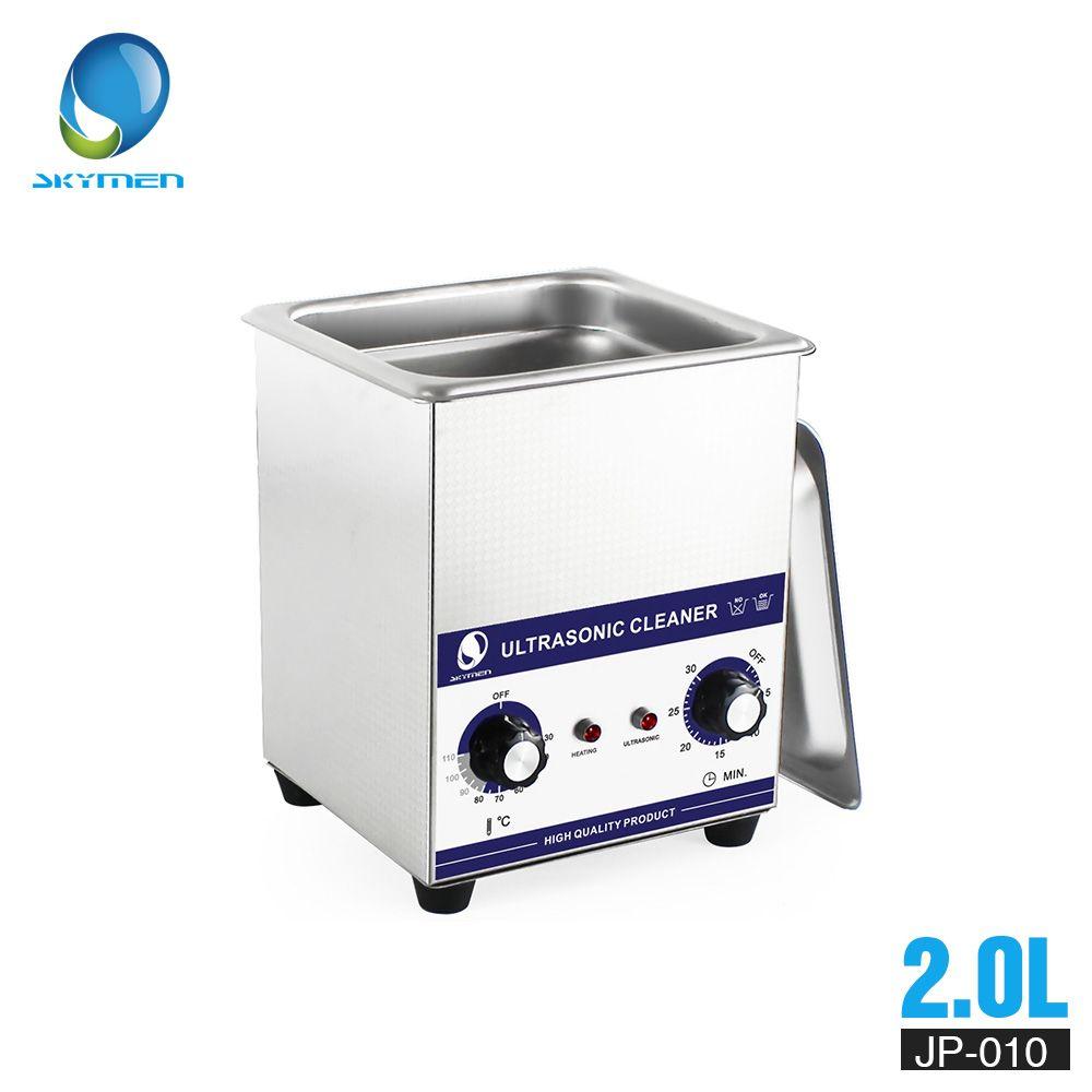 SKYMEN Mechanische Knopf Ultraschall Reiniger Bad 2L 60 W 110/220 V teile reiniger ultraschall reiniger dental