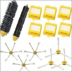 6 Hepa-Filter + Flexible Beater Borsten Pinsel kit + 6 seite pinsel kit für irobot roomba 700 series 770 780 790 aspirador zubehör