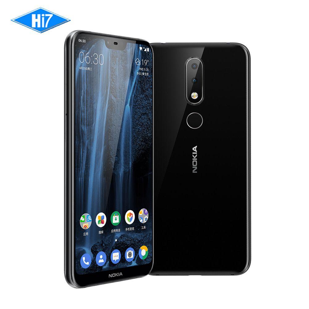 2018 New Nokia X6 6G RAM 64G ROM 3060mAh 16.0MP Front Camera Dual Sim Android Fingerprint 5.8