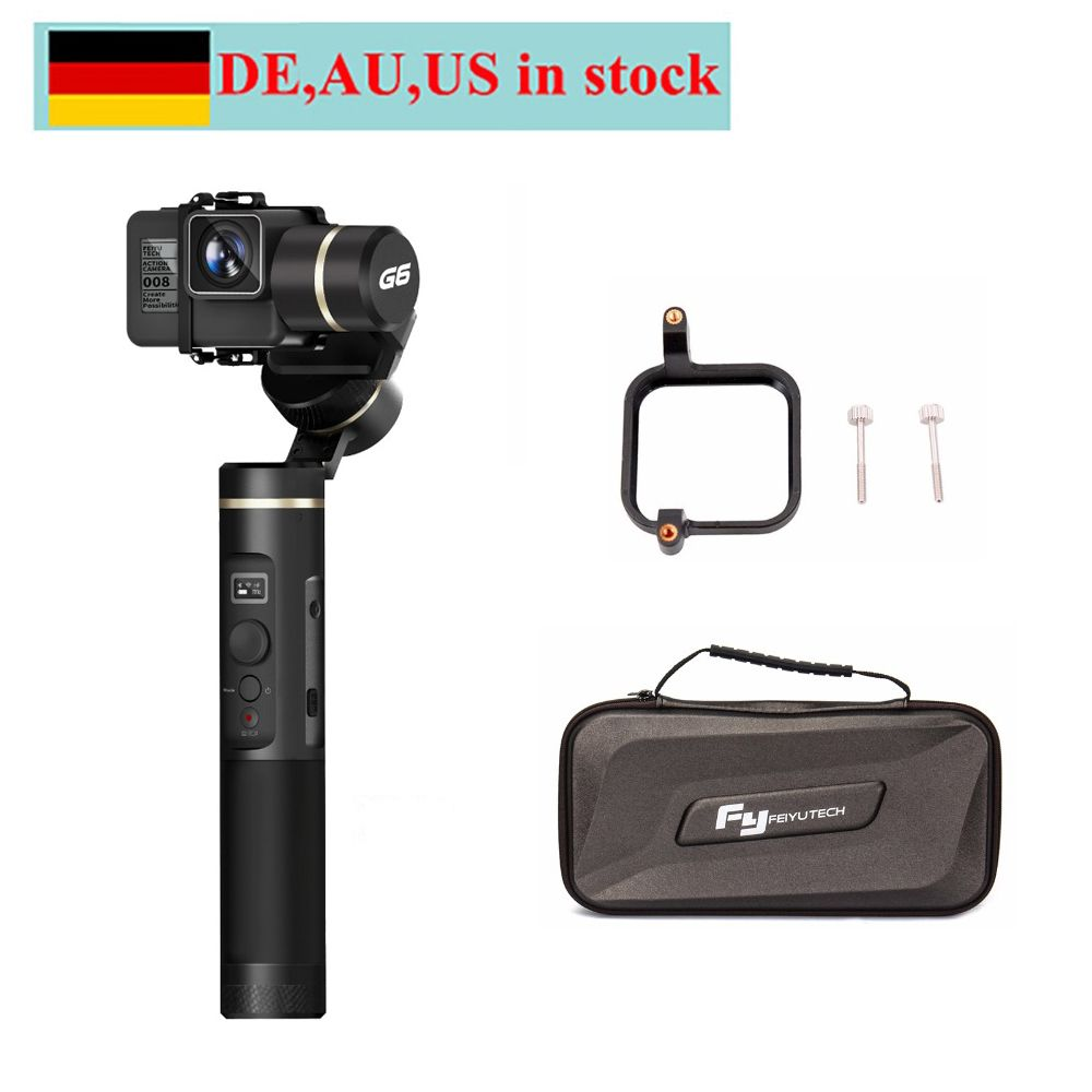 FeiyuTech Feiyu G6 3-Axis Handheld Gimbal Stabilizer for action camera Gopro 6 5 4 RX0 xiaomi yi 4k with Blue Tooth OLED Screen