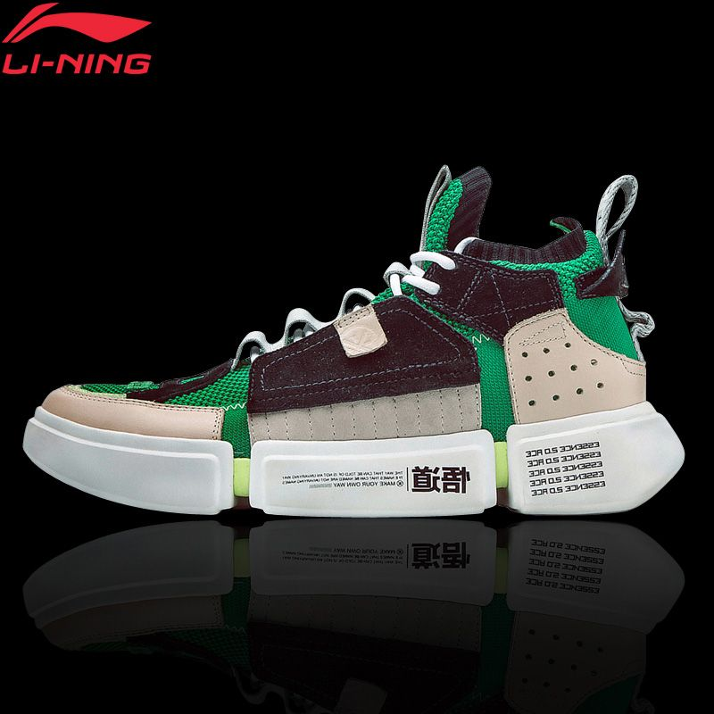 Li-Ning Men's ESSENCE 2 ACE NYFW Culture Shoes Sock-Like Sneakers Breathable Mono Yarn LiNing Sport Shoes AGWN041 XYL159
