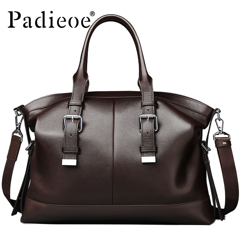 2016 Newest Design Vintage style Mens Genuine leather Briefcase Messenger Bag Business Shoulder Bag Brand Leather Office Bags