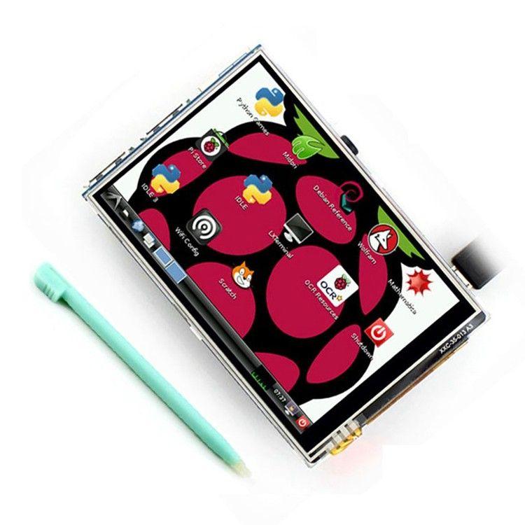 3.5 pulgadas 26 P Pantalla TFT LCD con Panel Táctil SPI 320*480 para RPi1/RPi2/frambuesa pi3 Tablero V3 (apoyo Sistema Raspbian)
