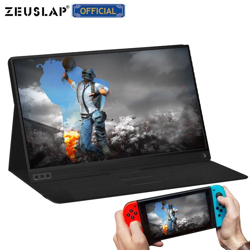 Moniteur lcd hd portable mince zeuslam 15.6 USB type C hdmi pour ordinateur portable, téléphone, xbox, commutateur et moniteur de jeu lcd portable ps4